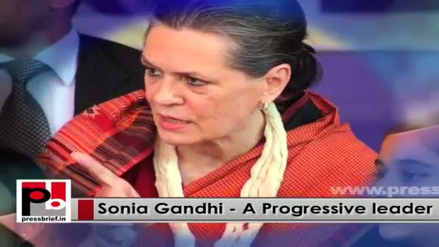Congress President Sonia Gandhi - a perfect mass leader whose main focus is people's welfare