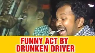 Drunken driver makes fun with traffic police in Hyderabad