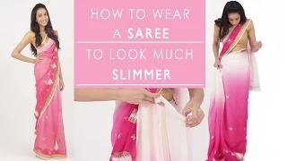 How To Wear A Saree To Look Slim - Fasion Beauty Video