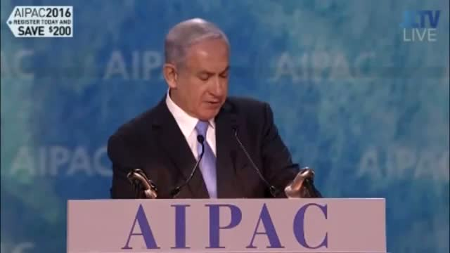 Netanyahu @ AIPAC 2015: We Defend Ourselves