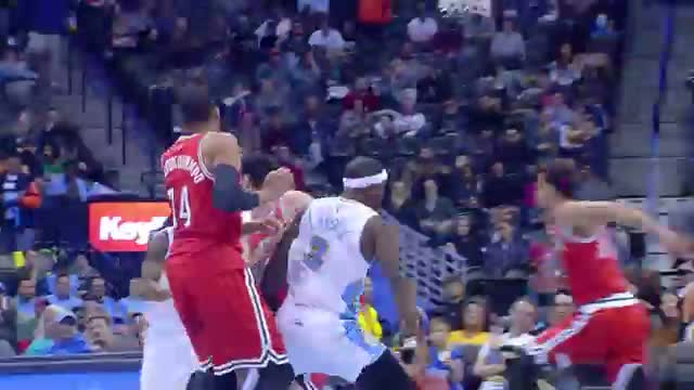 Kenneth Faried Throws Down the Monster Jam on Michael Carter-Williams