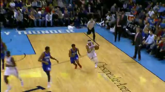 NBA: Russell Westbrook Goes Coast-to-Coast for the Nasty Two-Handed Slam