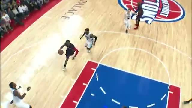 NBA: Reggie Jackson Climbs High for the One-Handed Slam