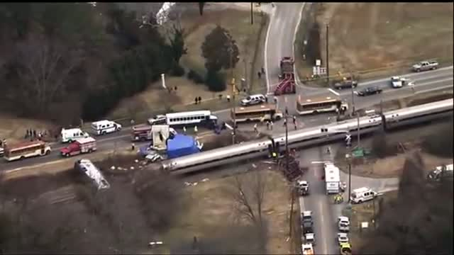 Engine Overturns in N.C. Amtrak-truck Crash