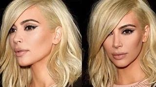 Kim Kardashian Reveals Which Pop Star Inspired Her Platinum Hair