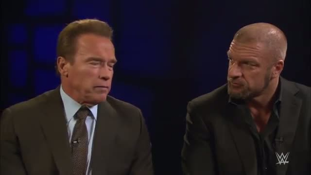 Triple H and Arnold Schwarzenegger discuss the significance of the International Sports Hall of Fame