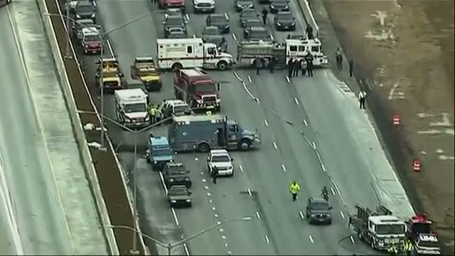 Truck Overturns on I-95 in Maryland