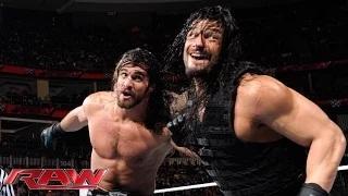 Roman Reigns vs. Randy Orton & Seth Rollins - 2-on-1 Handicap Match: WWE Raw, March 9, 2015