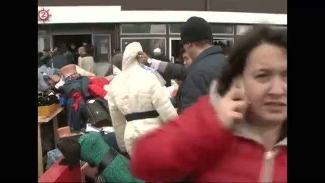 Fire Engulfs Russian Shopping Mall