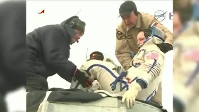 Soyuz With 3 Crew Members Lands