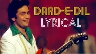 Dard-E-Dil Full Song with lyrics - Karz | Rishi Kapoor, Tina Munim