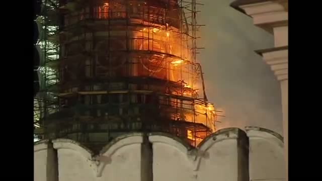 Fire Breaks Out at Famed Moscow Convent