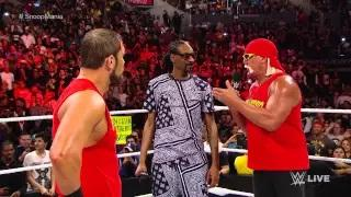Snoop Dogg and Hulk Hogan contend with AxelMania: WWE Raw, March 23, 2015