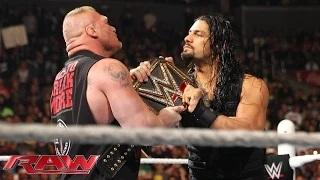 Roman Reigns confronts Brock Lesnar face to face: WWE Raw, March 23, 2015