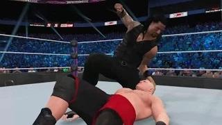 WWE 2K15 WrestleMania 31 simulation: Roman Reigns vs. Brock Lesnar