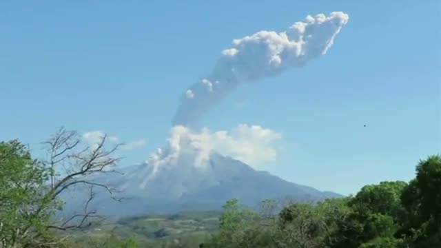 New Eruptions at Colima Volcano in Mexico