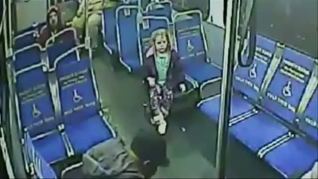 4-year-old Grabs Early AM Bus Ride for Snack