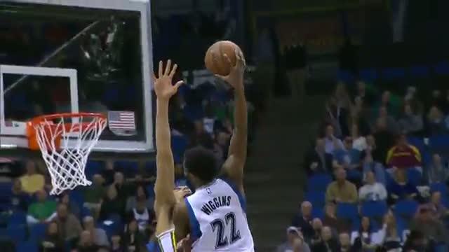NBA: Andrew Wiggins Posterizes Rudy Gobert...Again!!