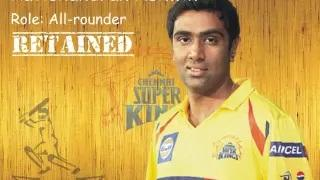 IPL 2015 Chennai Super Kings (CSK) : Players Retained / Released