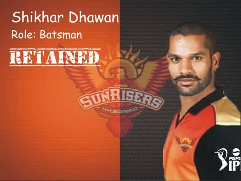 IPL 2015 SunRisers Hyderabad (SRH) : Players Retained / Released