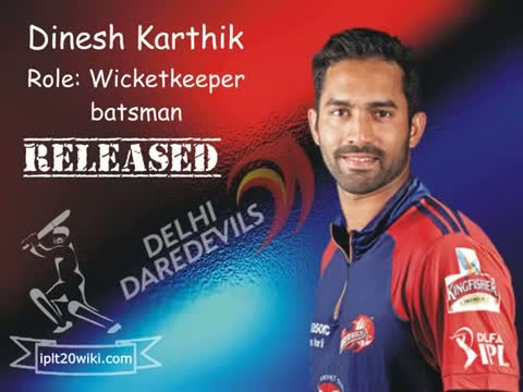 IPL 2015 Delhi Daredevils (DD) : Players Retained / Released