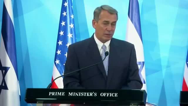 "Boehner in Israel: ""Friendship Strong"""