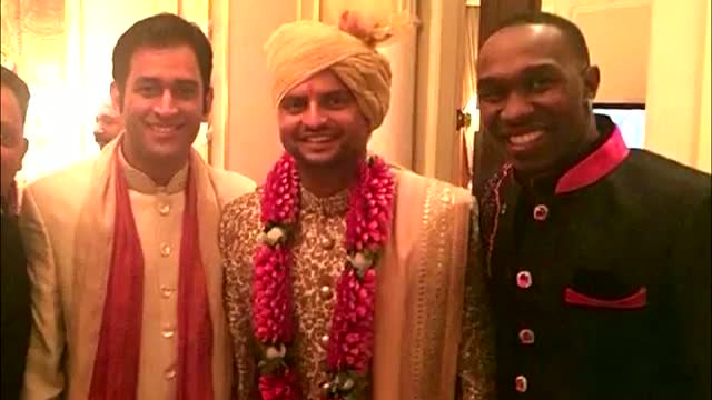 Dwayne Bravo ATTENDS Suresh Raina's WEDDING