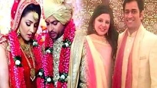 Suresh Raina Wedding - MS Dhoni And Sakshi Attends