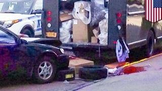 Leg severed in car accident: UPS man's leg cut off by teen driver
