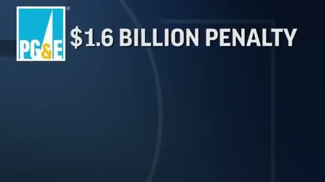 PG&E Penalized $1.6 Billion for Pipeline Blast