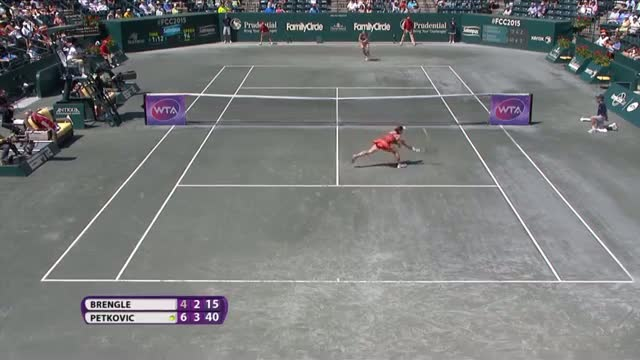 Andrea Petkovic 2015 Family Circle Cup Hot Shot - Video