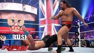 Rusev lays out John Cena: WWE Raw, April 13, 2015