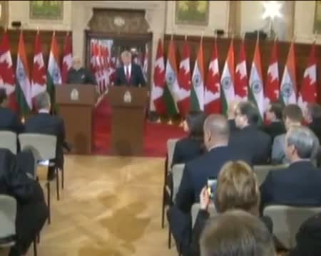 PM in Canada: Agreement Signing Ceremony