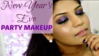New Year's Eve Party Makeup Tutorial Purple Eye Makeup