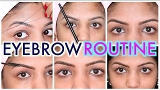 Eyebrow Routine Step by Step | Eyebrow Threading & Eyebrow Hair Growth tutorial