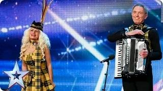 Britain's Got Talent 2015 - Will folk dance act Arlene and Doug shake things up? | Audition Week 2