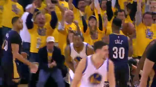 NBA: Andre Iguodala Finishes the Fast-Break with the Alley-Oop Slam