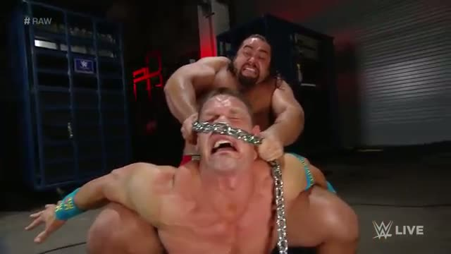 Rusev assaults John Cena with a Russian chain: WWE Raw, April 20, 2015