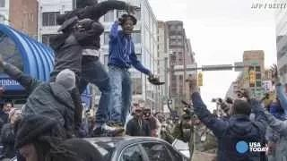Freddie Gray protest turns violent in Baltimore