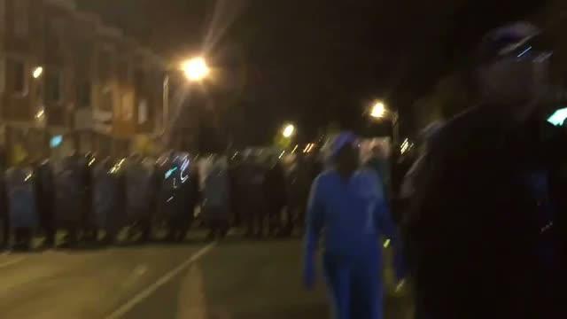 Martial Law Crewfew Declared at Baltimore Uprising