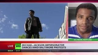 'Michael Jackson' dancing protester Dimitri Reeves: 'I just want to bring peace to the streets'