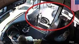 Speeding car nearly kills 3 kids waiting for school bus