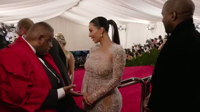 Kanye West and Kim Kardashian West at the Met Gala 2015   China: Through the Looking Glass