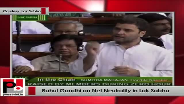 Rahul Gandhi on Net Neutrality in Lok Sabha