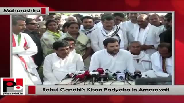 Rahul Gandhi's Kisan Padyatra in Amaravati