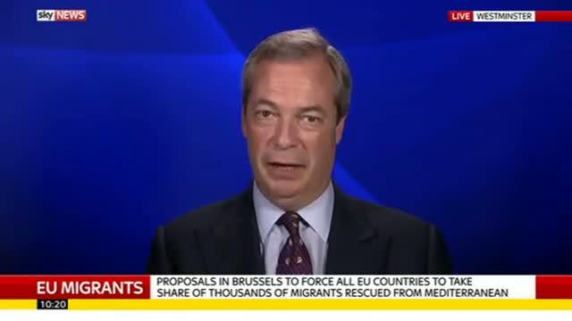 Nigel Farage on EU starting foreign asylum policy, African crisis