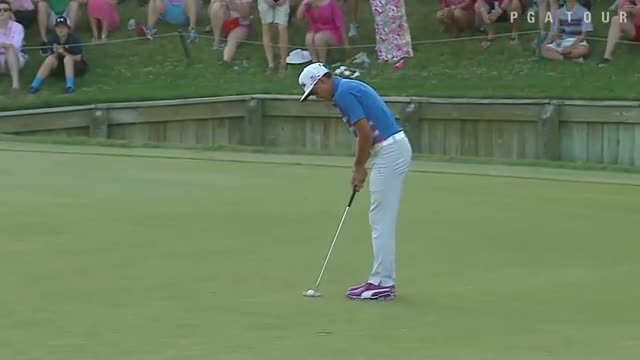 Rickie Fowler birdies No. 17 three times on Sunday to win THE PLAYERS