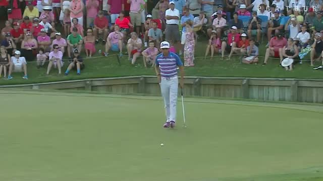 Rickie Fowler birdies No. 17 on second playoff hole at THE PLAYERS