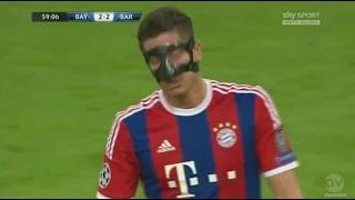 Lewandowski Goal - Bayern Munich vs Barcelona 3-2 - Champions League 1/2
