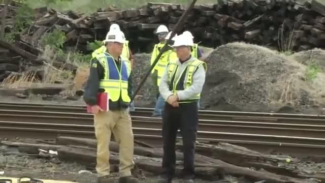 NTSB Investigators Examine Train Crash Site